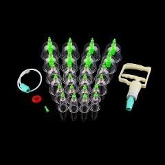 6/24pcs Chinese Vacuum Cupping Set  Vacuum Cups&Gun Set Pull Out Vacuum Chinese Acupuncture Medicine Magnet Therapy-Cupping