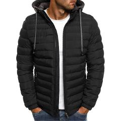 Plus Size Winter Men's Coat Solid Simple Zipper Warm Hooded Down Coat Jacket Light Weight Quality Men Parka Down Coat