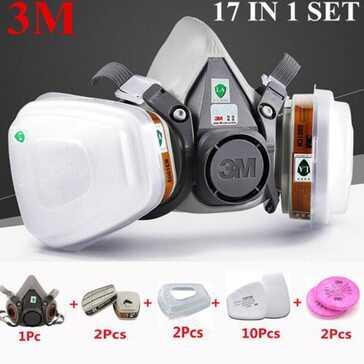 מסיכת הגנה של M3, מתאימה לשימוש עם קסדות ומגני עיניים