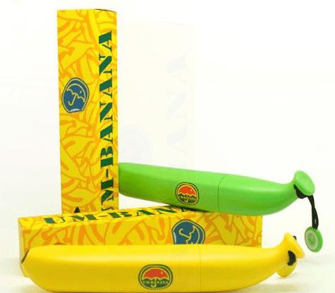מטרייה בננה צהובה
