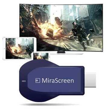 MiraScreen דונגל אלחוטי המעביר את תצוגת הטלפון לטלוויזיה