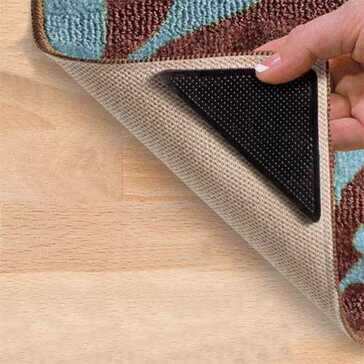סט 4 מדבקות למניעת תזוזה והחלקת שטיחים