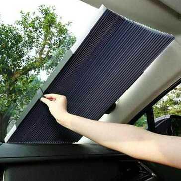 מגן שמש ומסנן קרינה מתקפל לרכב, יעיל, קל ונוח לשימוש