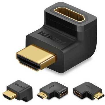 מתאם HDMI לחיבור בזווית - 4 סוגים לבחירה