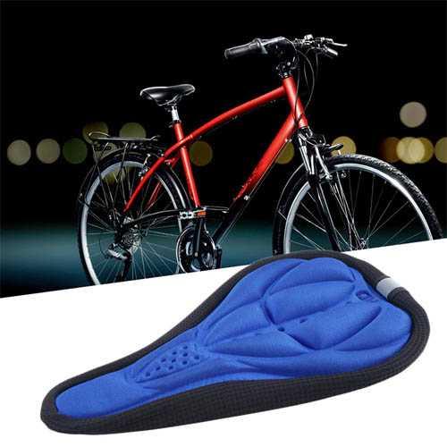כיסוי מושב לאופניים, לנוחות מקסימלית בעת רכיבה, מגן מפני כאבים, סופג זיעה, בעל פס זוהר לבטיחות