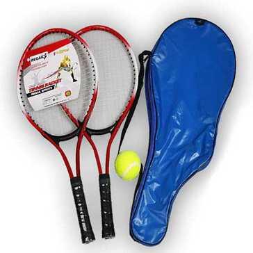 סט של שני מחבטי טניס, כדור ותיק נשיאה, מתאים למתאמנים מתחילים