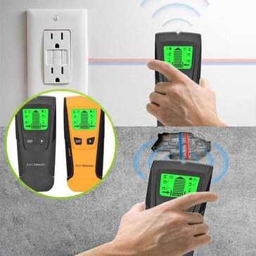 מכשיר לזיהוי כבלי חשמל ומתכות בתוך קירות ועצים, פועל על סוללות, קל ונייד