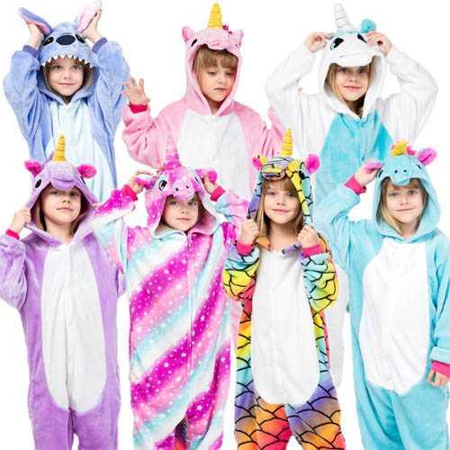 Pijama pufoasă pentru copii