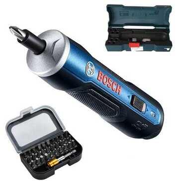 מברג אלחוטי של חברת BOSCH, נטען בחיבור USB, בעל מנגנון פשוט לשליטה במהירות ההברגה, מסיים את עבודת התיקון במהירות וביעילות
