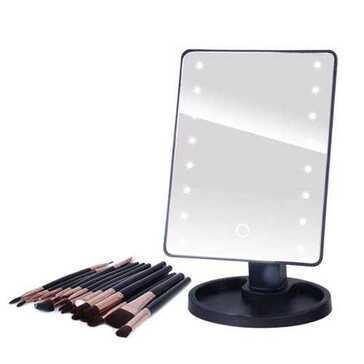מראת איפור עם אורות LED, עם אפשרות לשליטה בעוצמת הבהירות