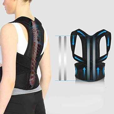 חגורת תמיכה ליישור הגב, מקל על כאבי כתפיים וגב עליון