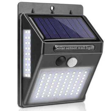 מנורת LED סולארית הנדלקת בזיהוי תנועה בעת החשיכה, להארת הגן