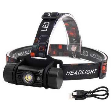 פנס ראש LED נטען, עמיד למים, מושלם לטיולים ועבודות בחוץ