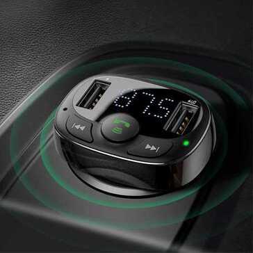מטען רכב כפול המתחבר לבלוטות', לשמוע מוזיקה ושיחות ברמקולי הרכב