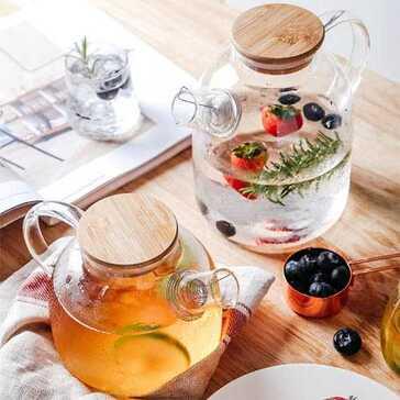 קנקן זכוכית מעוצב עמיד לחום, להגשת שתייה חמה בצורה הכי יפה שיש, עכשיו ב-30% הנחה ומשלוח חינם!