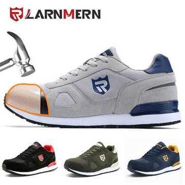 נעלי עבודה המספקות תמיכה לקשתות הרגליים ובלימת זעזועים, תוך הגנה של כיסוי פלדה על אצבעות הרגל, עכשיו ב-52% הנחה ומשלוח חינם