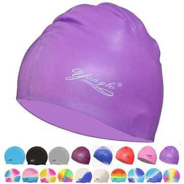 כובע שחייה לאיסוף שיער ארוך בבריכה, במגוון צבעים ודוגמאות