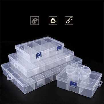 קופסאות אחסון במגוון גדלים, בעלות תוחמים הניתנים לשינוי לייעול מקום