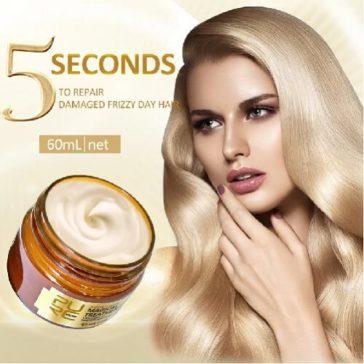 5 שניות והשיער שלך בריא עם מסכה מתקנת לכל סוגי השיער על בסיס קרטין - משקמת והופכת את השיער למלא, רך ומבריק במבצע 61% הנחה