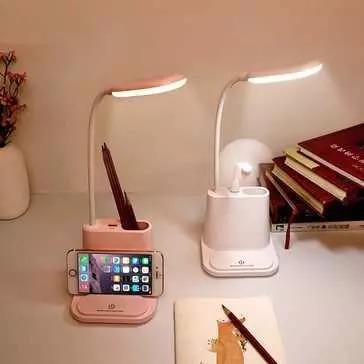 מנורת קריאה גמישה עם מעמד לטלפון וחיבור USB להטענה ב-35% הנחה