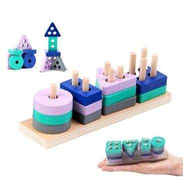 צעצוע התפתחות מונטסורי מקסים לילדים מגיל שנתיים