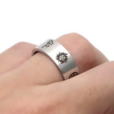 טבעת לגבר בעיצוב על טבעי ב-2 צבעים לבחירה