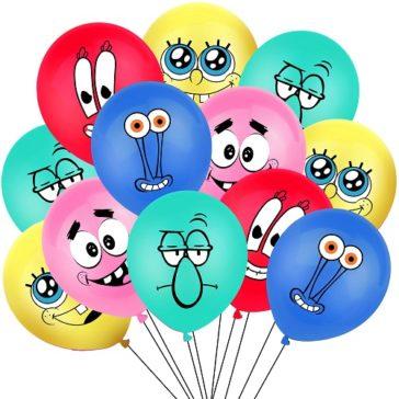 בלונים של בובספוג - 10 בלוני מסיבה עם הדמויות האהובות