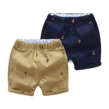 מכנסי קיץ מכותנה לילדים בגיל 2-9 נוחים עם גומי נמתח