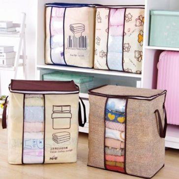 מארגני בגדים מרובעים לסדר ומקום פנוי בארון